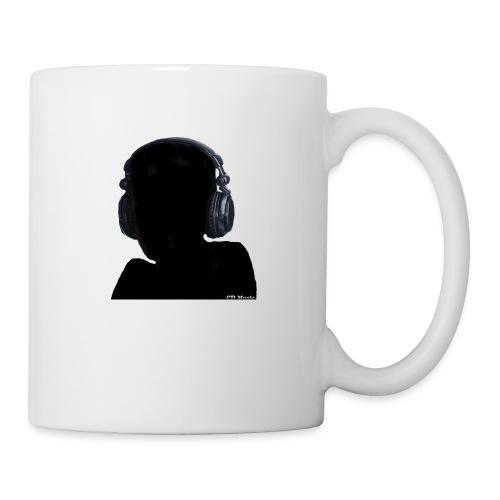 CD Music silhouette with headphones - Coffee/Tea Mug