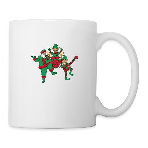 santa elves band w/ CD Music drums - Coffee/Tea Mug