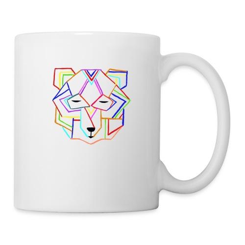 art deco bear face - Coffee/Tea Mug
