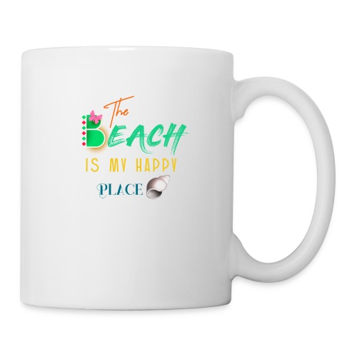 The beach is my happy place - Coffee/Tea Mug