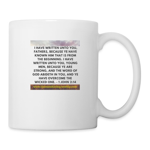 1 John 2:14 (#Overcomer) - Coffee/Tea Mug