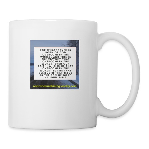 1 John 5:4-5 (#Overcomer) - Coffee/Tea Mug
