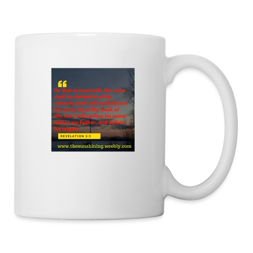 Revelation 3:5 (#Overcomer) - Coffee/Tea Mug