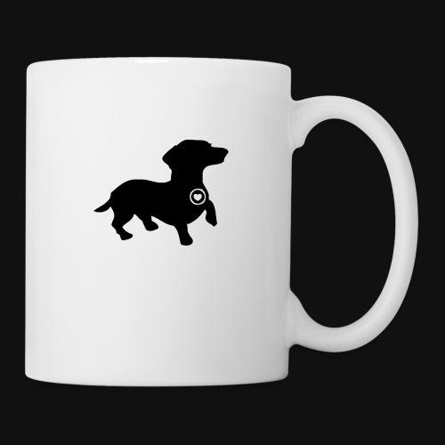 Dachshund love silhouette black - Coffee/Tea Mug