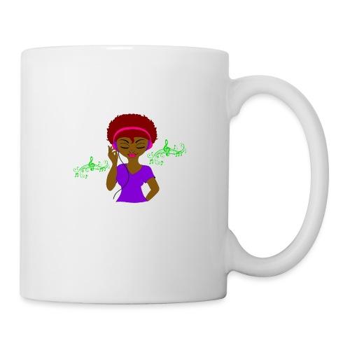 Afro DJ girl - Coffee/Tea Mug