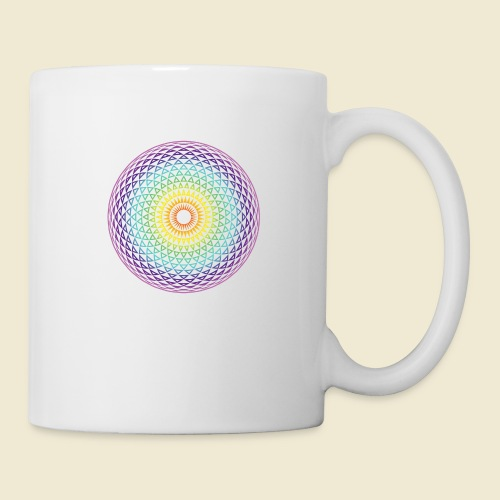 Torus Yantra Hypnotic Eye rainbow - Coffee/Tea Mug