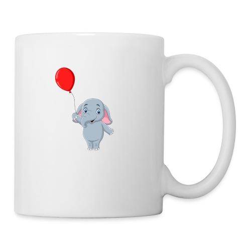 Baby Elephant Holding A Balloon - Coffee/Tea Mug