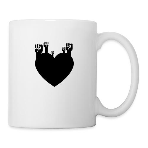 Fist Heart Blk - Coffee/Tea Mug