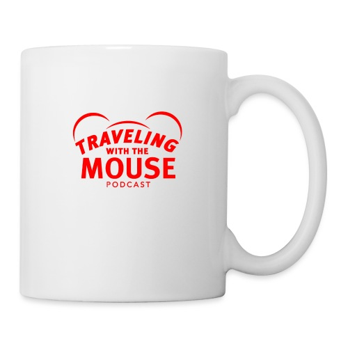 TravelingWithTheMouse logo transparent RED - Coffee/Tea Mug