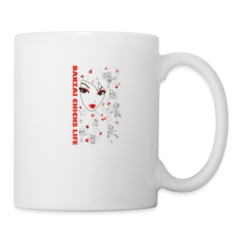 Banzai Chicks Super Cute Big Face and Chibi Tee - Coffee/Tea Mug