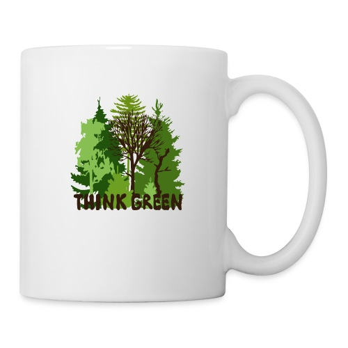 EARTHDAYCONTEST Earth Day Think Green forest trees - Coffee/Tea Mug