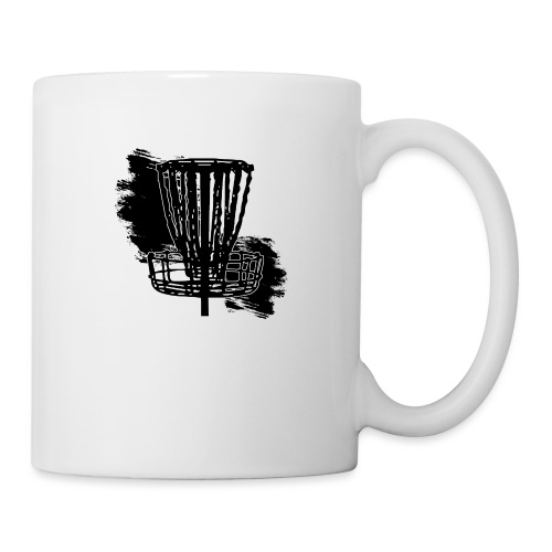 Disc Golf Basket Paint Black Print - Coffee/Tea Mug
