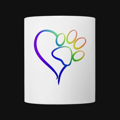 Paw Print on my Heart Rainbow Bridge - Coffee/Tea Mug