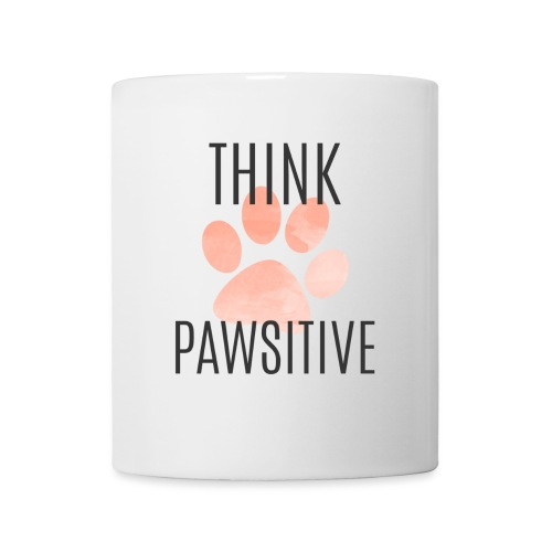 think pawsitive png - Coffee/Tea Mug