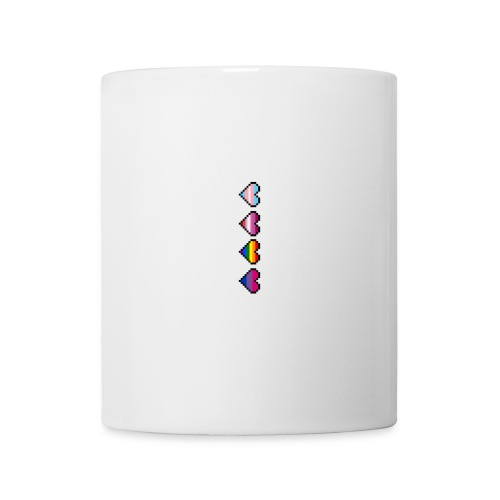 trans, lesbian, gay and bisexual pixel hearts - Coffee/Tea Mug