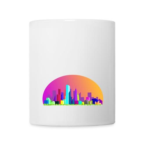 Summer evening city skyline - Coffee/Tea Mug