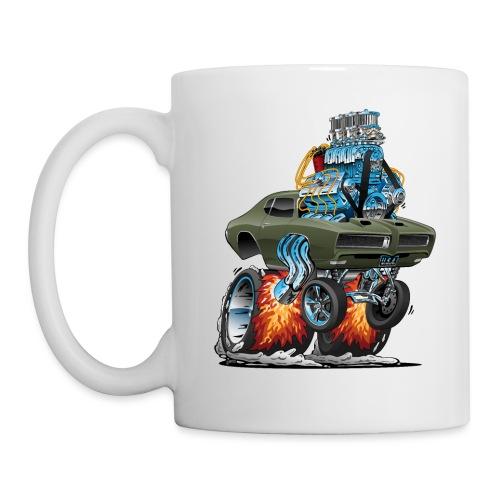 Classic American Muscle Car Hot Rod Cartoon - Coffee/Tea Mug