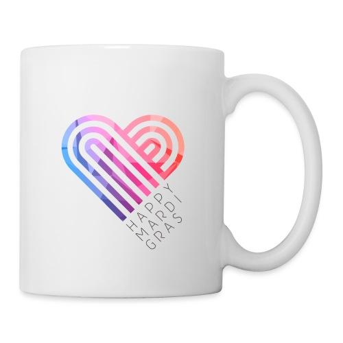 Mardi Gras Heart png - Coffee/Tea Mug
