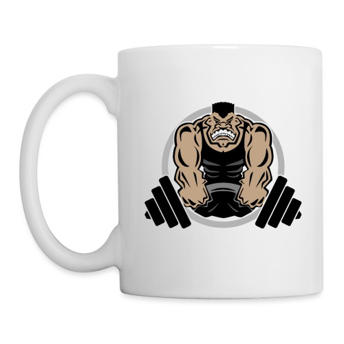 Weightlifting Muscle Fitness Gym Cartoon - Coffee/Tea Mug