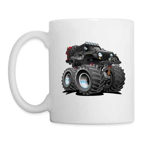 Off road 4x4 black jeeper cartoon - Coffee/Tea Mug