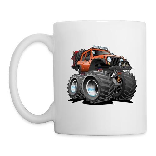 Off road 4x4 orange jeeper cartoon - Coffee/Tea Mug