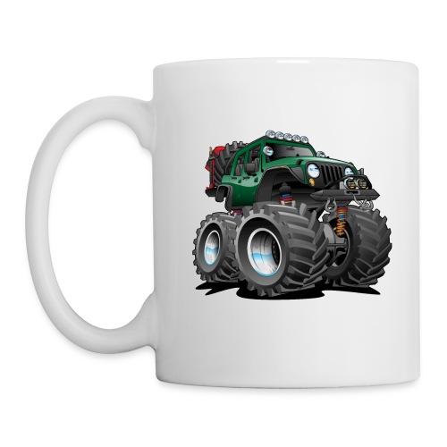 Off road 4x4 green jeeper cartoon - Coffee/Tea Mug