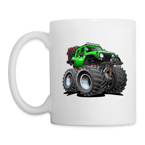 Off road 4x4 gecko green jeeper cartoon - Coffee/Tea Mug