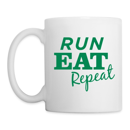 Run Eat Repeat buttons medium - Coffee/Tea Mug