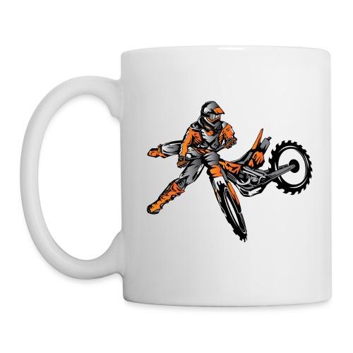 Orange Freestyle Motocross Rider - Coffee/Tea Mug