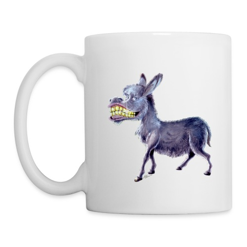 Funny Keep Smiling Donkey - Coffee/Tea Mug