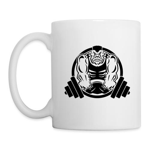 Weightlifting Muscle Fitness Gym Cartoon - Coffee/Tea Mug