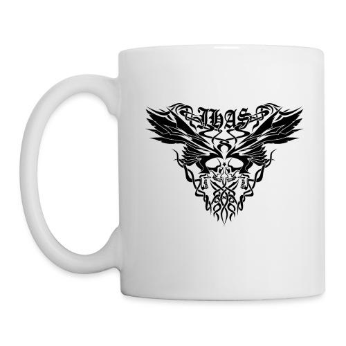 Vintage JHAS Tribal Skull Wings Illustration - Coffee/Tea Mug
