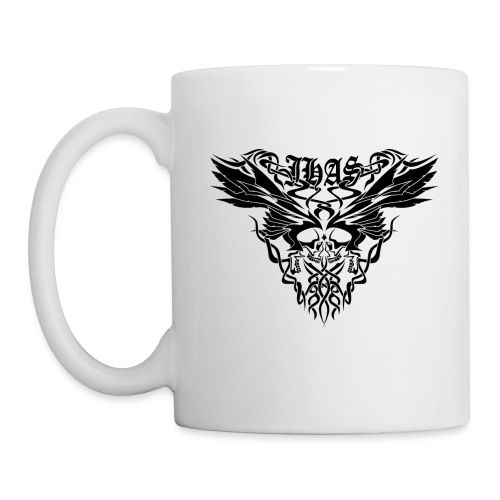Vintage JHAS Tribal Skull Wings Illustration - Coffee/Tea Mug