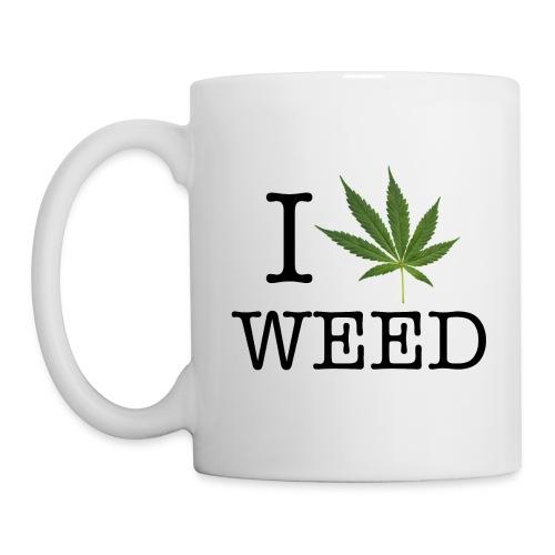 I love weed - Coffee/Tea Mug