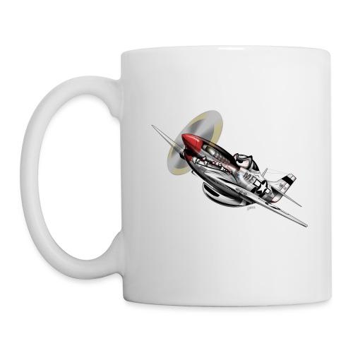P-51 Mustang WWII Airplane Cartoon Illustration - Coffee/Tea Mug