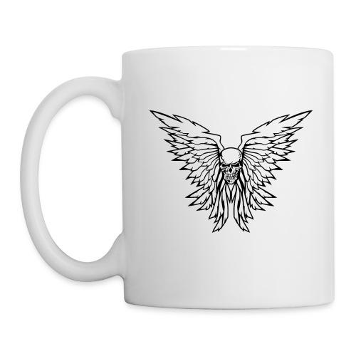 Classic Old School Skull Wings Illustration - Coffee/Tea Mug