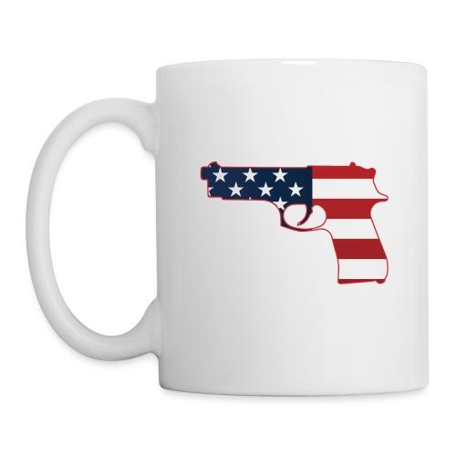 Semi-automatic Stars & Stripes Handgun Silhouette - Coffee/Tea Mug
