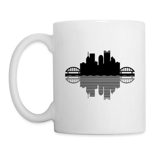 Pittsburgh Skyline Reflection (Black) - Coffee/Tea Mug
