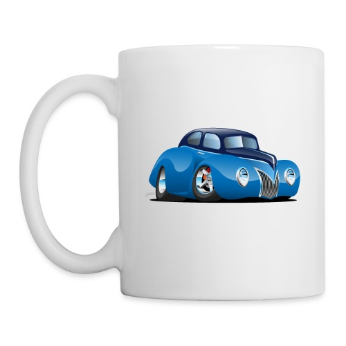 Classic 39 Street Rod Coupe Custom Car Cartoon - Coffee/Tea Mug