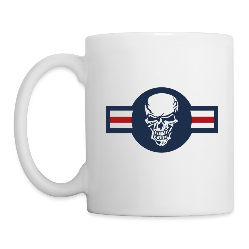 Military aircraft roundel emblem with skull - Coffee/Tea Mug