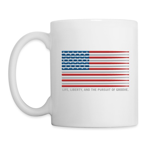 American Drummer Drumstick Flag - Coffee/Tea Mug