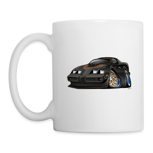 Classic American Black Muscle Car Cartoon - Coffee/Tea Mug