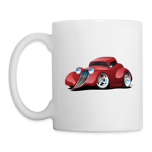 Red Hot Rod Restomod Custom Coupe Cartoon - Coffee/Tea Mug