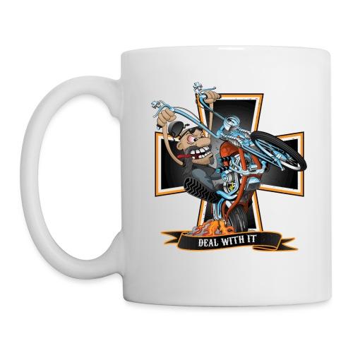 Deal with it - funny biker riding a chopper - Coffee/Tea Mug