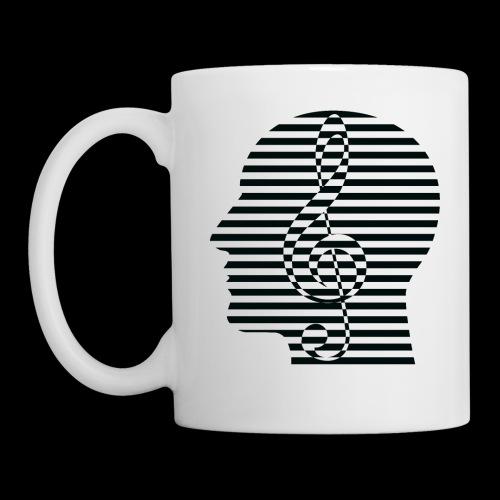 Treble Clef Cranium - Coffee/Tea Mug