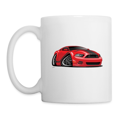 American Muscle Car Cartoon Illustration - Coffee/Tea Mug