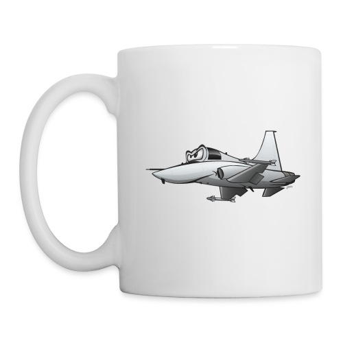 Military Fighter Jet Airplane Cartoon - Coffee/Tea Mug