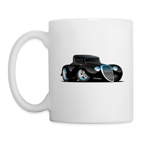 Black Hot Rod Classic Coupe Custom Car Cartoon - Coffee/Tea Mug