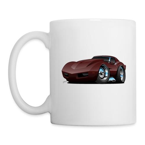 Classic Seventies American Sports Car Cartoon - Coffee/Tea Mug