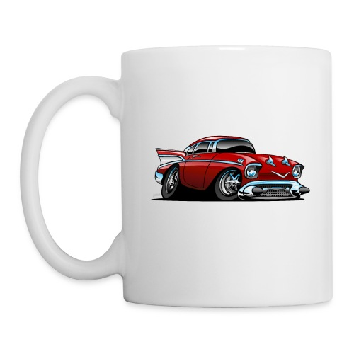 Classic American 57 Hot Rod Cartoon - Coffee/Tea Mug